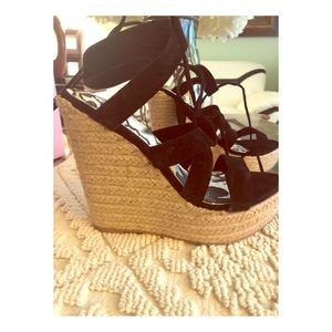Lace up wedges new with tags 7.5